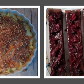 Auflauf und Kuchen